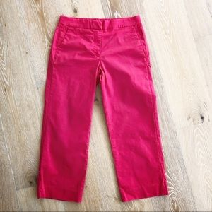 J Crew red chino crop pants in size 2 EUC